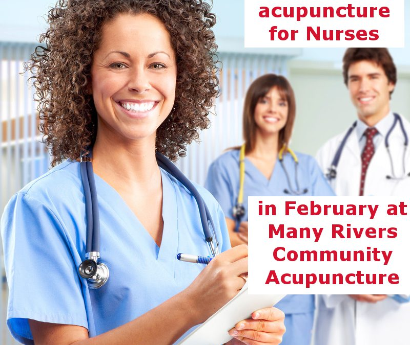 $10 Acupuncture for Nurses in February 2015