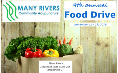 Food Drive and $15 Acupuncture in November 2019!