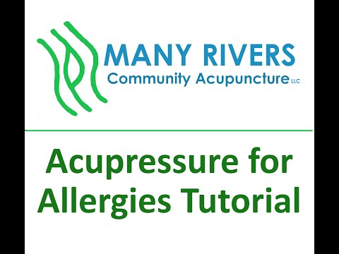 Acupressure for Allergies Tutorial