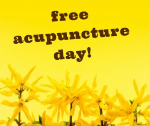 free acupuncture day