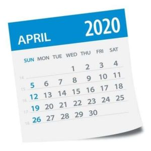 April Calendar (source https://www.clipart.email)