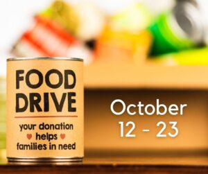 Support our Food Drive in October
