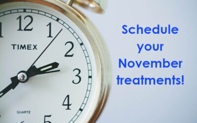 Our November schedule is OPEN! Expanded hours on Thursdays until 5 pm!